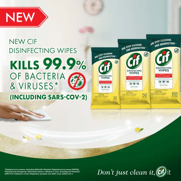 CiF Disinfecting Wipes – Kills 99.9% of Bacteria and Viruses Wipes CiF 7