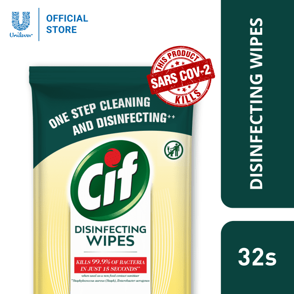 CiF Disinfecting Wipes – Kills 99.9% of Bacteria and Viruses Wipes CiF 4