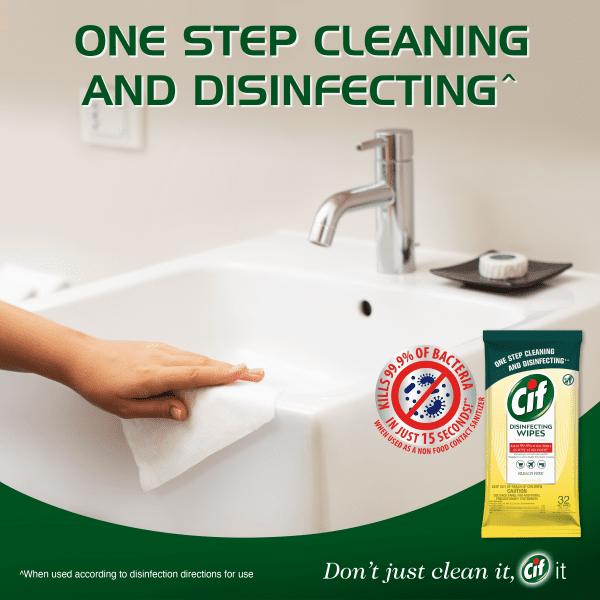 CiF Disinfecting Wipes – Kills 99.9% of Bacteria and Viruses Wipes CiF 8