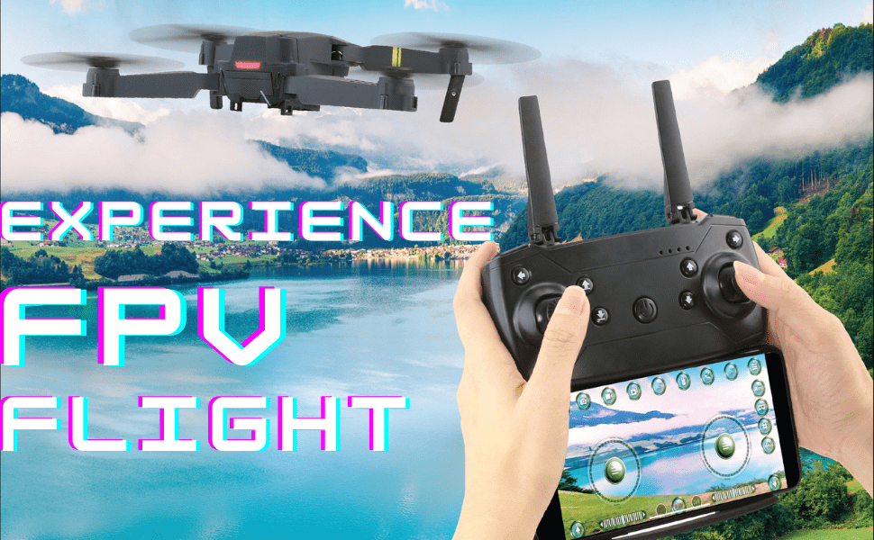 2.4GHz Quadcopter Drone WiFi Enabled Smart Drone AUTO & TOOL beginner black drone 13