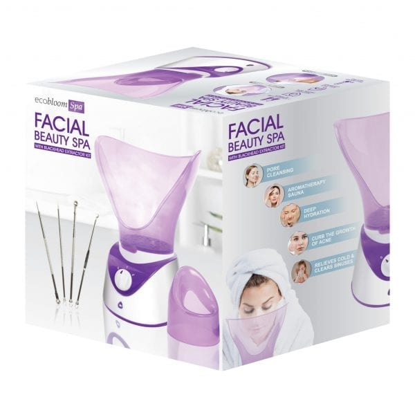 Facial Steamer with Black Head Extractor Kit HEALTH & BEAUTY 6