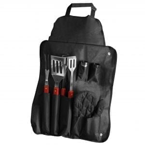 BBQ Apron with 7 Piece Utensil Set CAMPING apron grill set