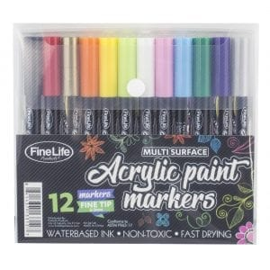 12-Color Acrylic Paint Markers STATIONERY 12-color acrylic marker
