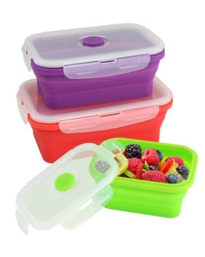 SILICONE FOOD CONTAINER SET