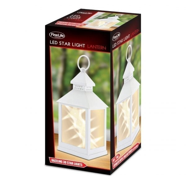Classic Star White Lantern LIGHTING fine life products outdoor 4