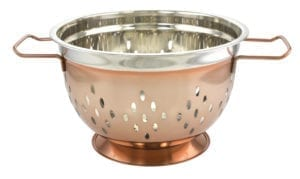 COPPER/STAINLESS COLANDER