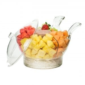Serving Bowl with Ice Chiller Home Storage