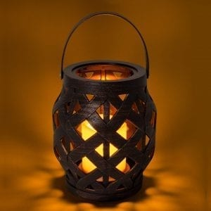 Woven Lantern With Candle Candles artsy candle lantern