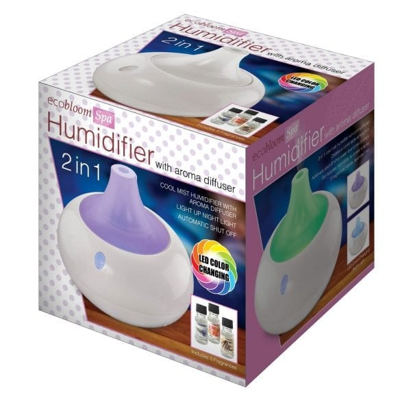 2-in-1 Humidifier with Aroma Diffuser LED LIGHTS amazon humidifier 5