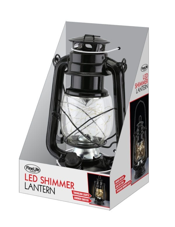 SHIMMER LED LIGHT LANTERN