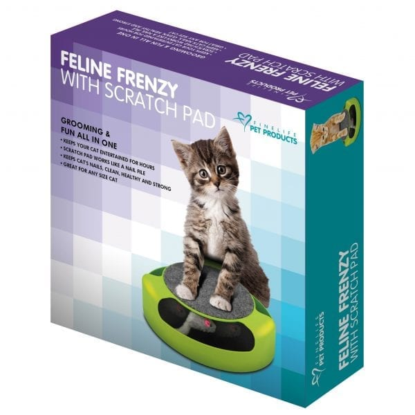 Feline Frenzy Cat Toy with Scratch pad FOR CATS Feline Frenzy Toy Scratch Pad 6
