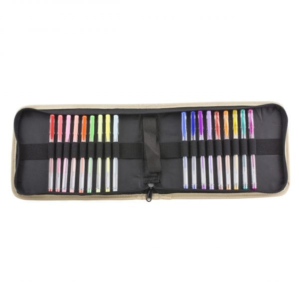 Gel Pens with Fabric Case & Doodle Sheets 18 Count Gel Pens 5