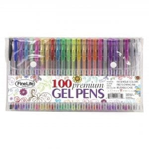 100 Piece Gel Pen Set STATIONERY 100 premium gel pen set