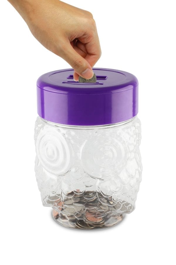 LED LIGHT UP OWL COIN BANK TOP