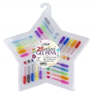 25 Piece Mini Gel Pen Set in Star Container STATIONERY 25 piece gel pen set