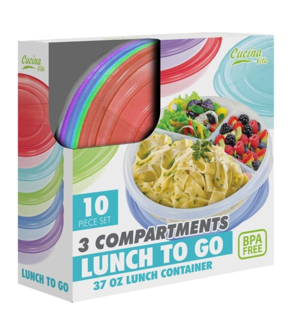 3 COMPARTMENT LUNCH TO GO