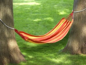 TREE HAMMOCK -ORANGE STRIPES
