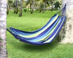 TREE HAMMOCK -BLUE STRIPES