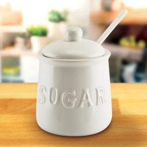 Ceramic Sugar Jar Food Storage
