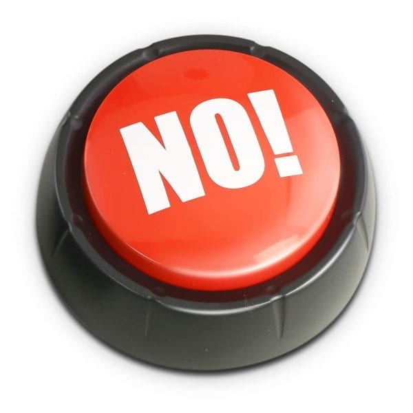 The Answer Is No Button Fidget Toys 3