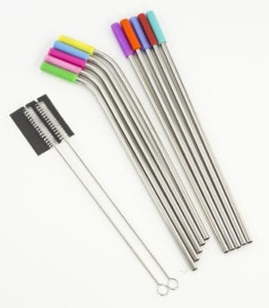 SILICONE TIP STRAW SET