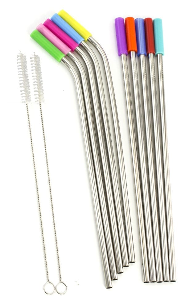 STAINLESS SILICONE TIP STRAWS