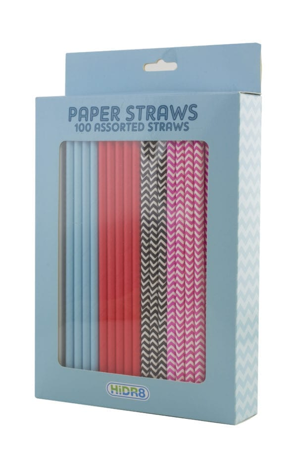 100 PIECE PAPER STRAW SET