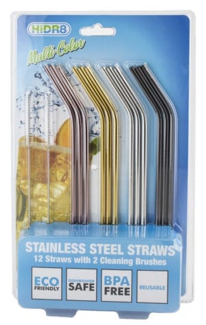 STAINLESS STEEL ANGLED STRAWS