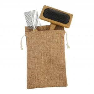 Bamboo Pet Grooming Set PET bamboo brush pet 3