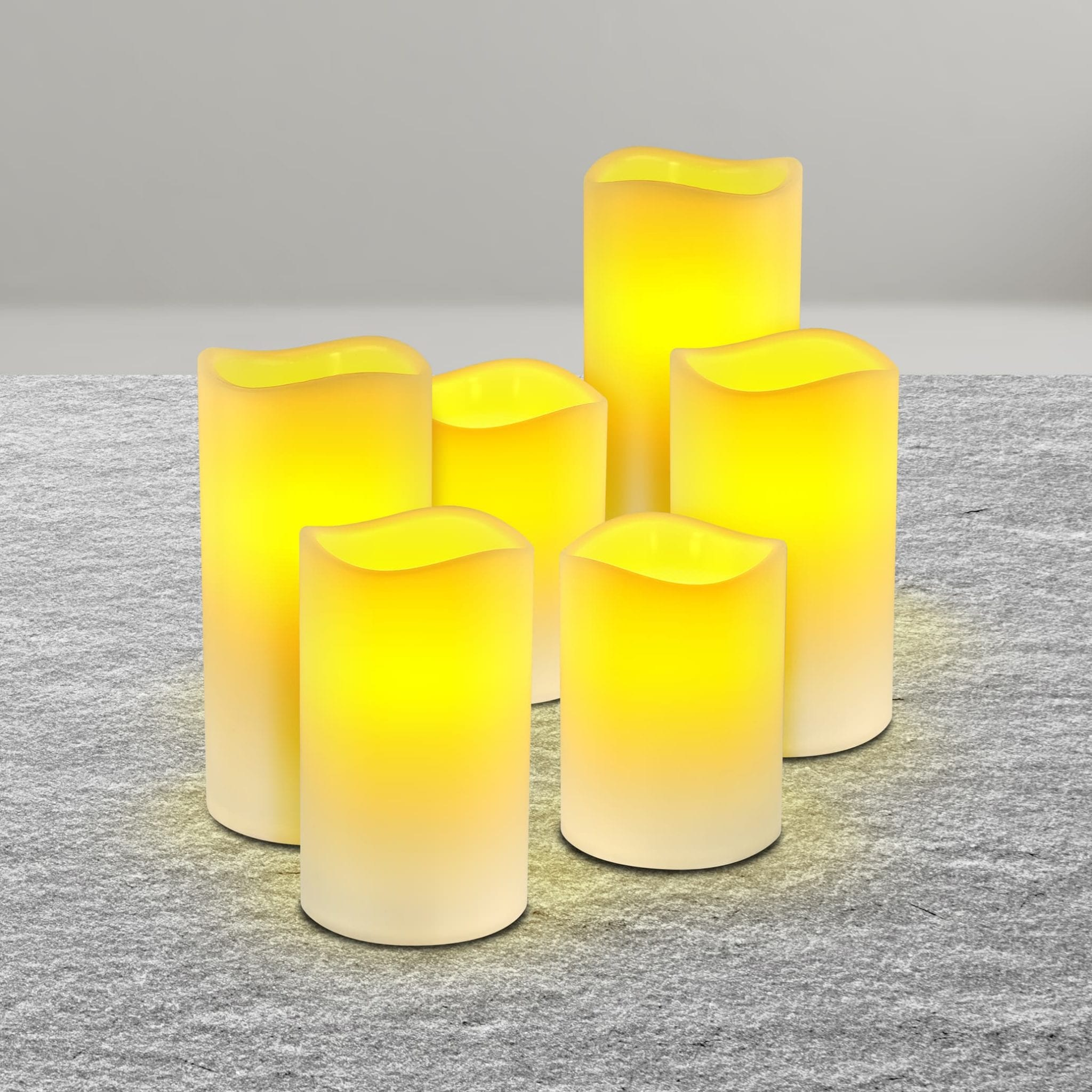 Flameless LED Wax Candles LED LIGHTS brilliant wax candles 6