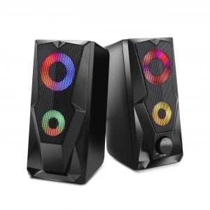 LED Colored Performance Gaming Speakers Audio color changing LED speaker 3