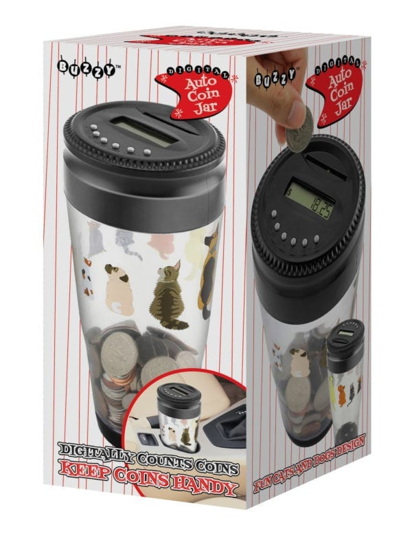 CATS & DOGS AUTO COIN JAR