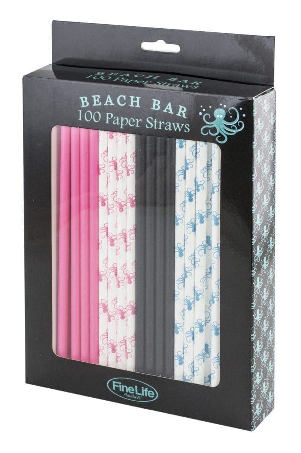 BEACH BAR 100 PAPER STRAWS