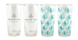 BEACH BAR TALL GLASS SET OF 4