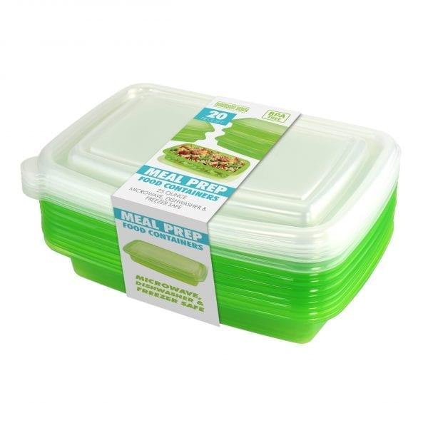20 Piece Meal Prep Container – Green KITCHEN 3