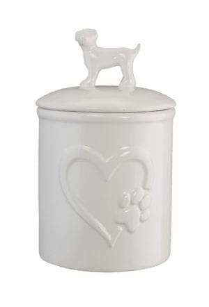 DOG HANDLE HEART TREAT JAR