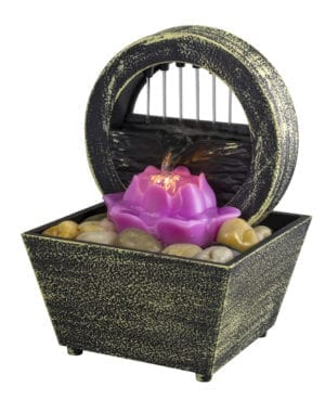 LOTUS TABLETOP FOUNTAIN
