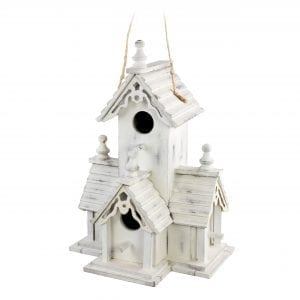 Wintry Shabby Bird House