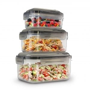 6 Piece Side Latching Rectangle Food Storage Set BAKE & STORE