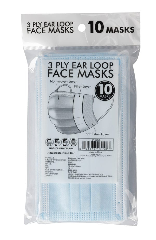 3PLY DISPOSABLE MASK-10 PACK