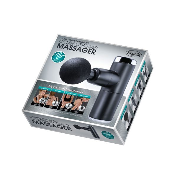 CORDLESS COMPACT POWER PERCUSSION MASSAGER GIFTS & GADGETS compact 9