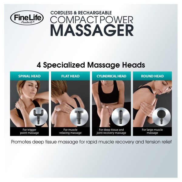 CORDLESS COMPACT POWER PERCUSSION MASSAGER GIFTS & GADGETS compact 6