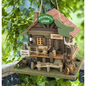 Wilderness Lodge Style Birdhouse Birdhouses bird feeder cabin 3