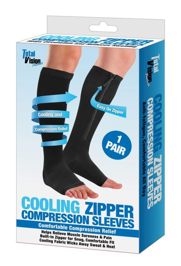 COOLING ZIP COMPRESSION SOCKS