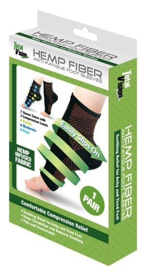 HEMP COMPRESSION FOOT SLEEVES