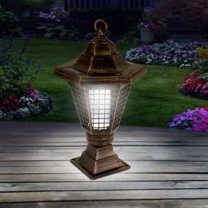 Solar Bug Zapper Lantern & Garden Stake CAMPING at home outdoor lanterns 3