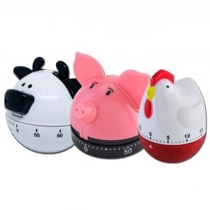 Animal Kitchen Timers Bundle BAKE & STORE chicken animal timers