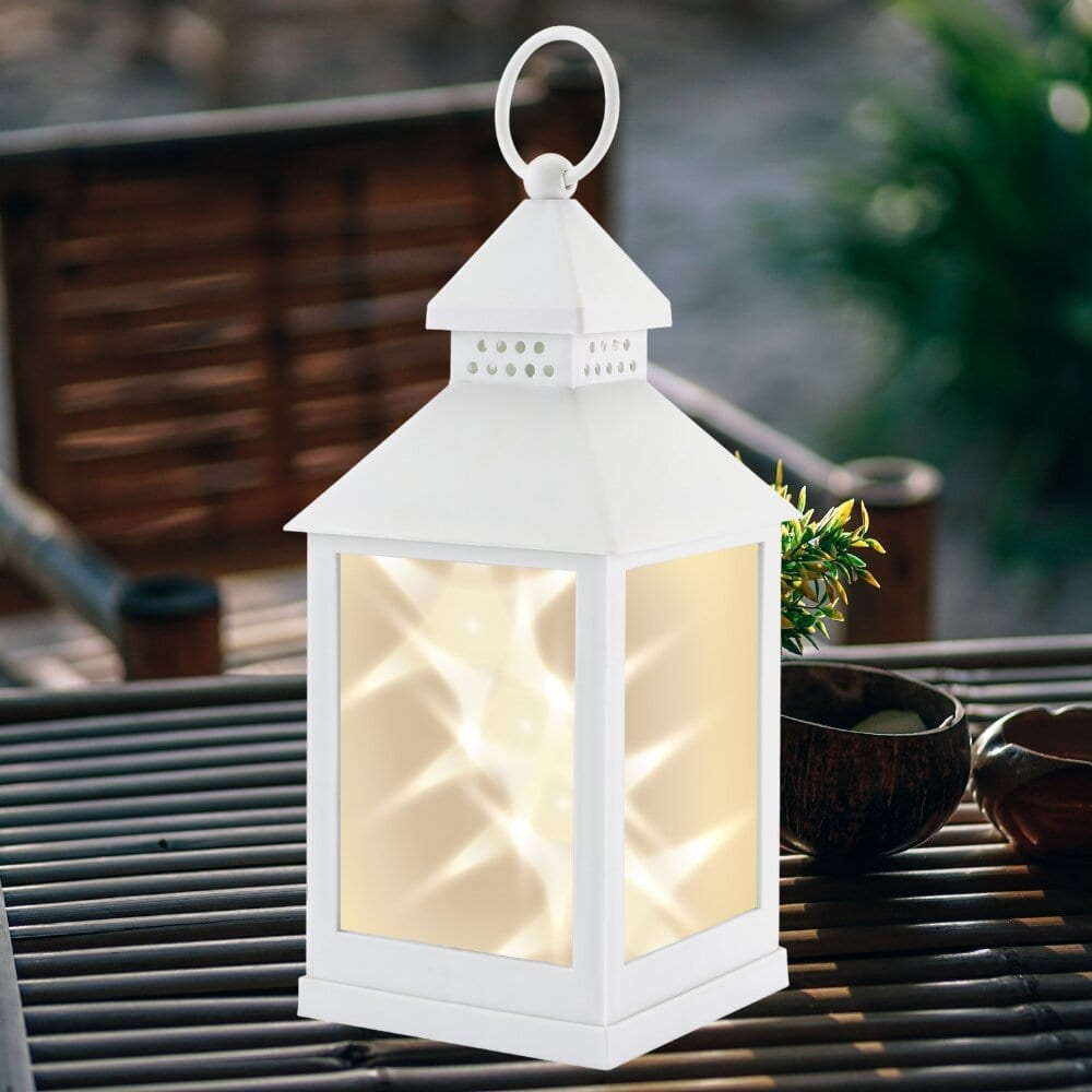 Classic Star White Lantern LIGHTING fine life products outdoor 6