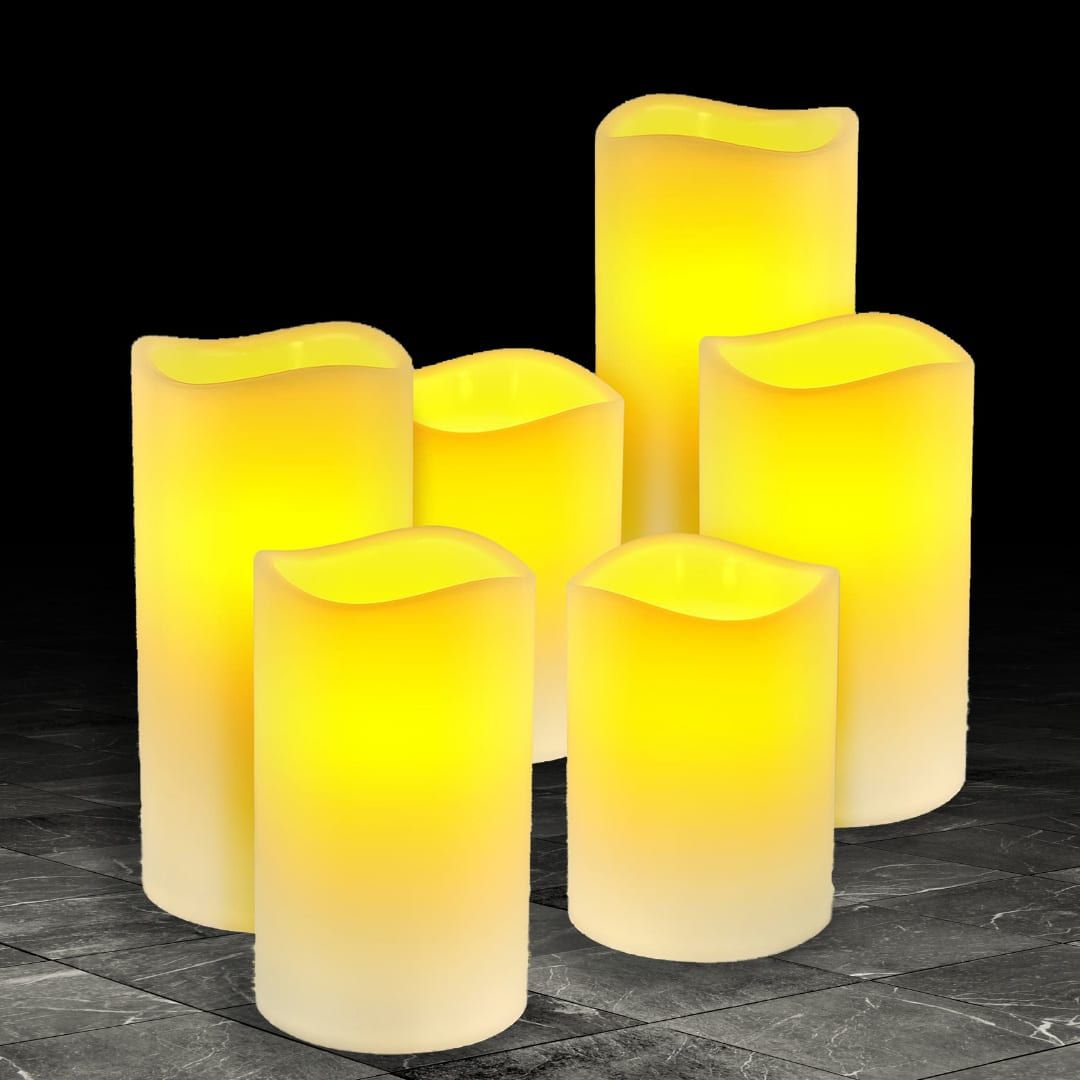 Flameless LED Wax Candles LED LIGHTS brilliant wax candles 8